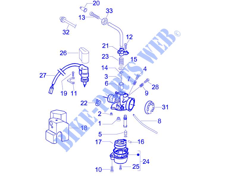 nut Vespa Carburetor Diagram modern vespa 2 stroke carburetor set