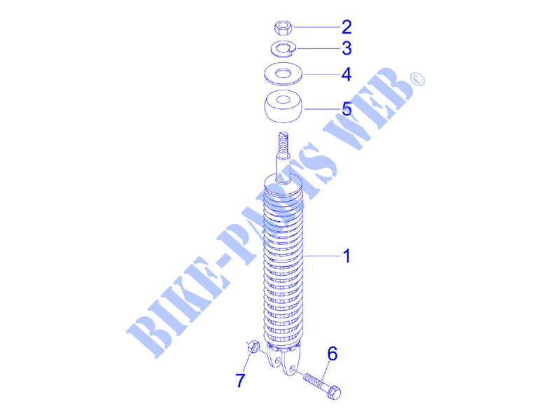 Rear suspension   Shock absorber/s for VESPA Vespa LX 4T 2008