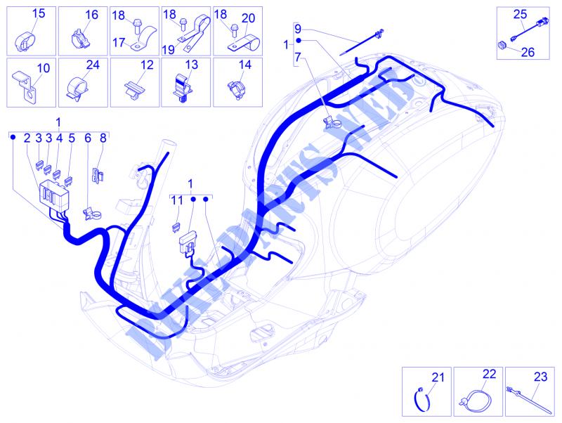 FUSE 20A Vespa Primavera Wiring Diagram on