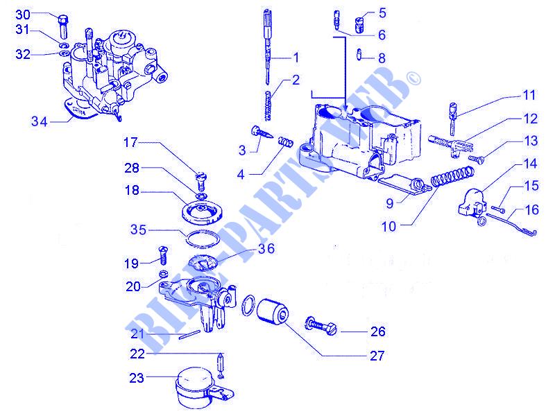 carburetor\u0027s components for vespa vespa px 30 anni 2007 Vespa Carburetor Diagram vespa et4 125 leader carburetor