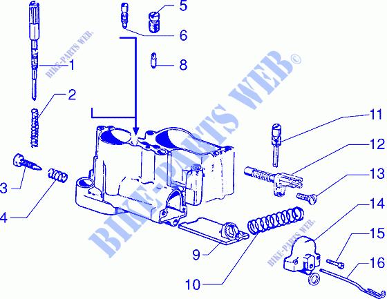 Carburettor component parts for VESPA 200 Vespa PX 200 E ... on vespa piaggio, vespa lx150, vespa px200, vespa parts, vespa et4, vespa p200e, vespa 1965 150 sportique, vespa clutch,