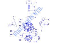 Carburetor's components for PIAGGIO 100 Fly 4T 2007