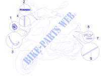 Plates   Emblems for PIAGGIO Fly 4T 2013