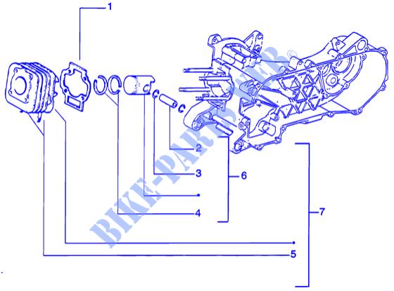 cylinder piston wrist pin assy engine zip catalyzed before 200 zip rh parts piaggio com Piston Wrist Pin Bad Wrist Pin