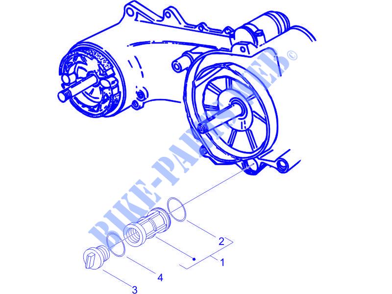 Flywheel Magneto Cover Oil Filter For Piaggio Liberty 4t Ptt 2014   Piaggio Vespa Gilera