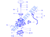 Carburetor's components for PIAGGIO MP3 2008