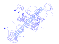 Carburettor, assembly   Union pipe for PIAGGIO MP3 2008