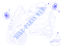Plates   Emblems for PIAGGIO MP3 2008
