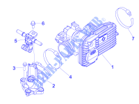 Throttle body - Injector - Union pipe Engine 250 piaggio-scooters MP3 2010 48