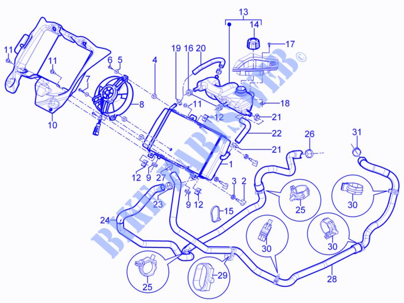 cooling system frame plastic parts coachwork mp3 yourban erl 2014 300 vespa  helmet piaggio piaggio scooter ninja 1000 wiring diagram