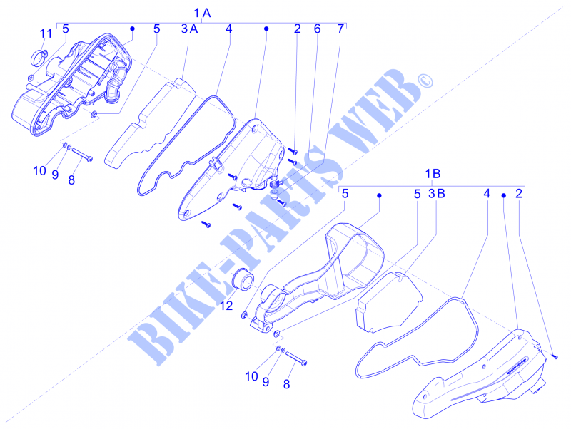 piaggio piaggio-scooter 100 zip 2014 zip 4t engine air filter