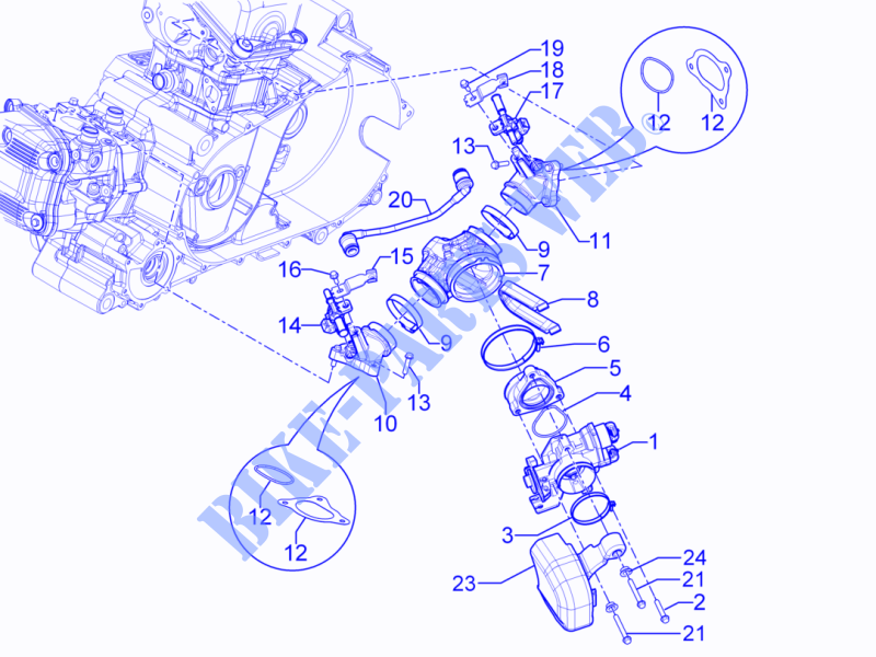Phenomenal Throttle Body Injector Union Pipe Engine Gp 2010 Gp 800 Gilera Wiring Digital Resources Dadeaprontobusorg